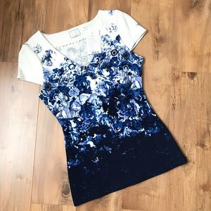 NWT Anthropologie BL Motif Floral Top Size S